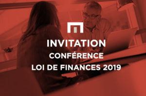Invitation conférence loi de finances 2019